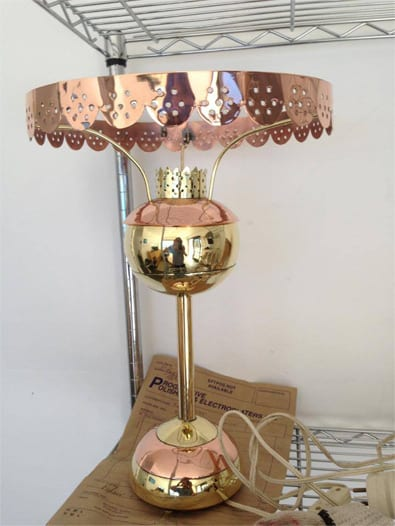 copper and gold lamp electroplating